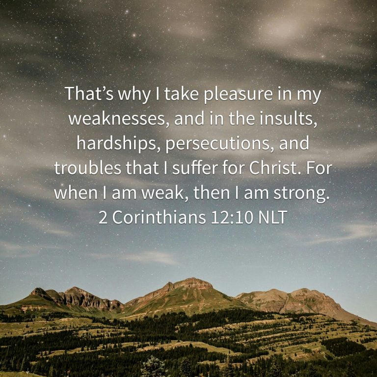 Our Weaknesses, God's Strength