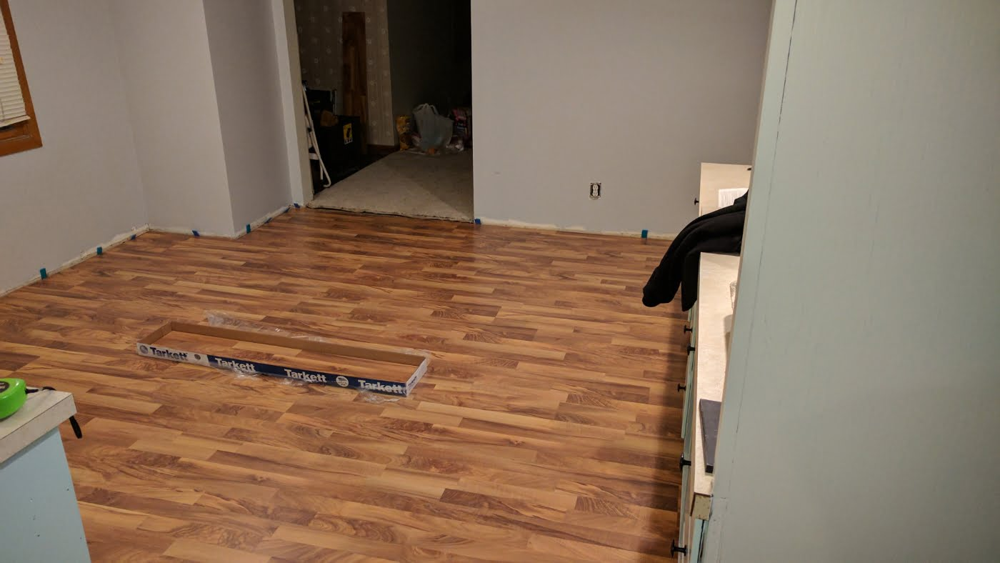 New House Flooring, Day 2…Dining Room Done