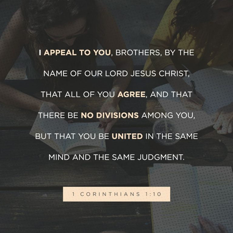 God's Design is For Unity Not Division
