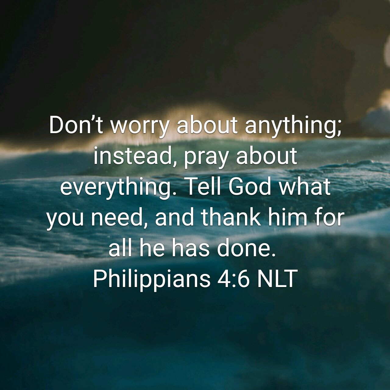 Prayer, Worry, and Thankfulness