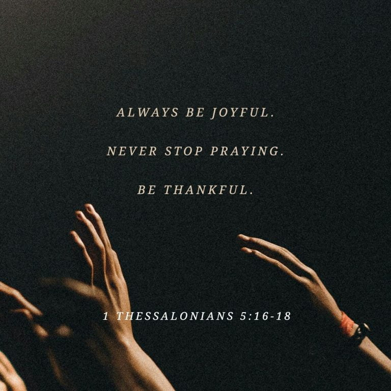 Joy, Prayer, Thankfulness