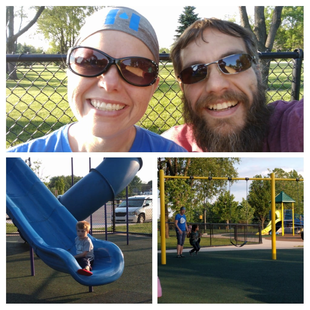 Evening At The Park With The Family