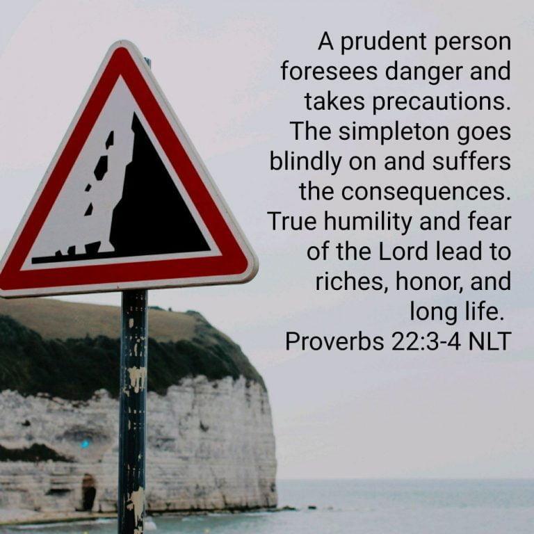 Prudence Not Arrogance