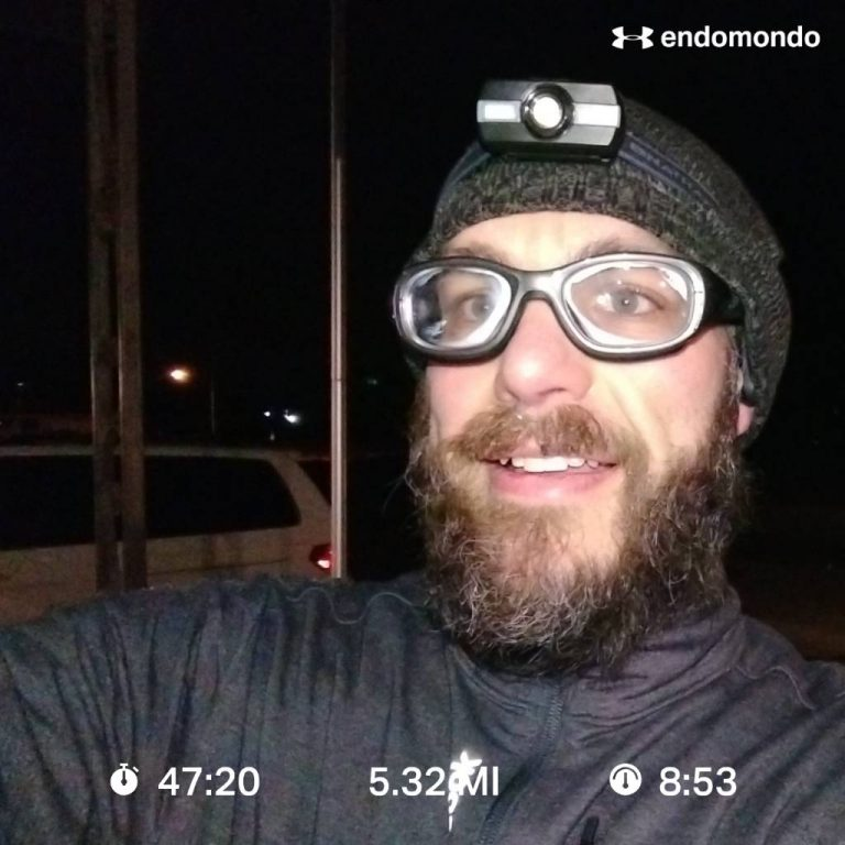 Cold Windy Training Run