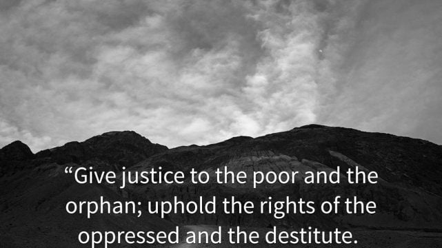 The Christian Responsibility to the Oppressed