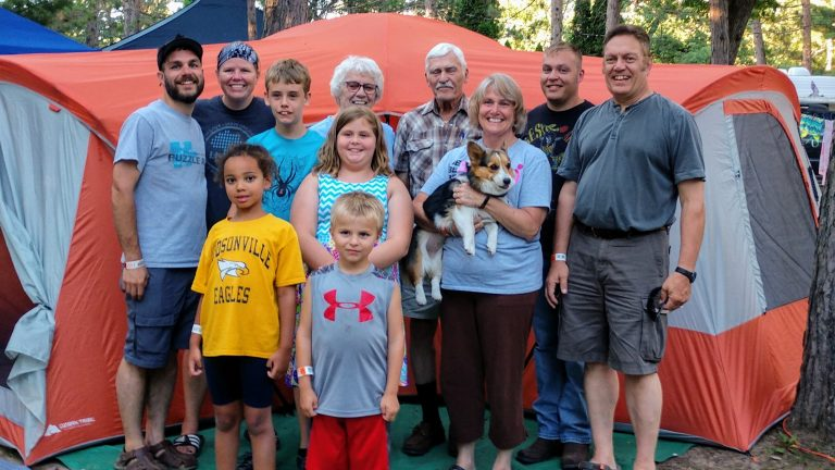 Nolte Gang Together For Camping In The Dells
