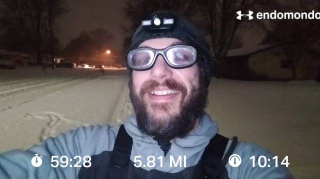 It Snowed, I Ran, It Rained, I Finished