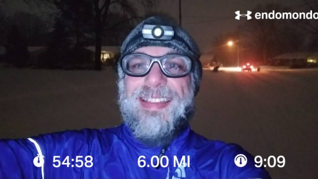 Frozen Beard On The Final Stretch Of Training For The Groundhog Day Marathon