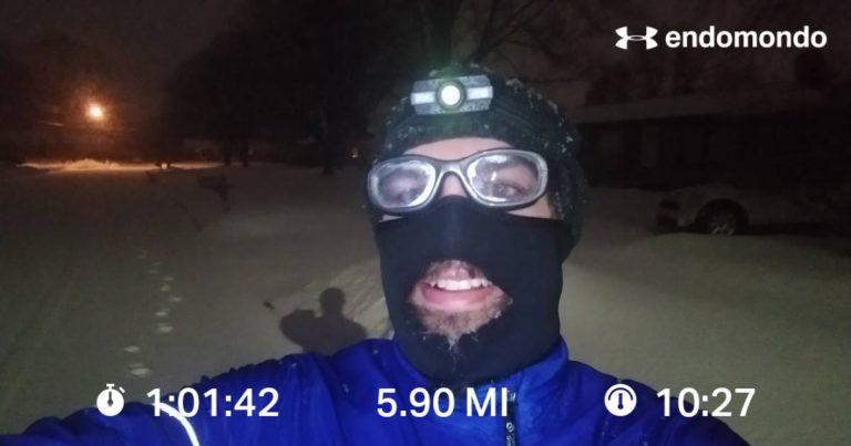 A Brutal Winter Run