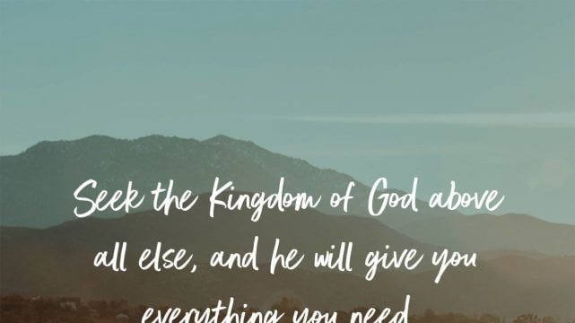 God Will Provide What We Really Need