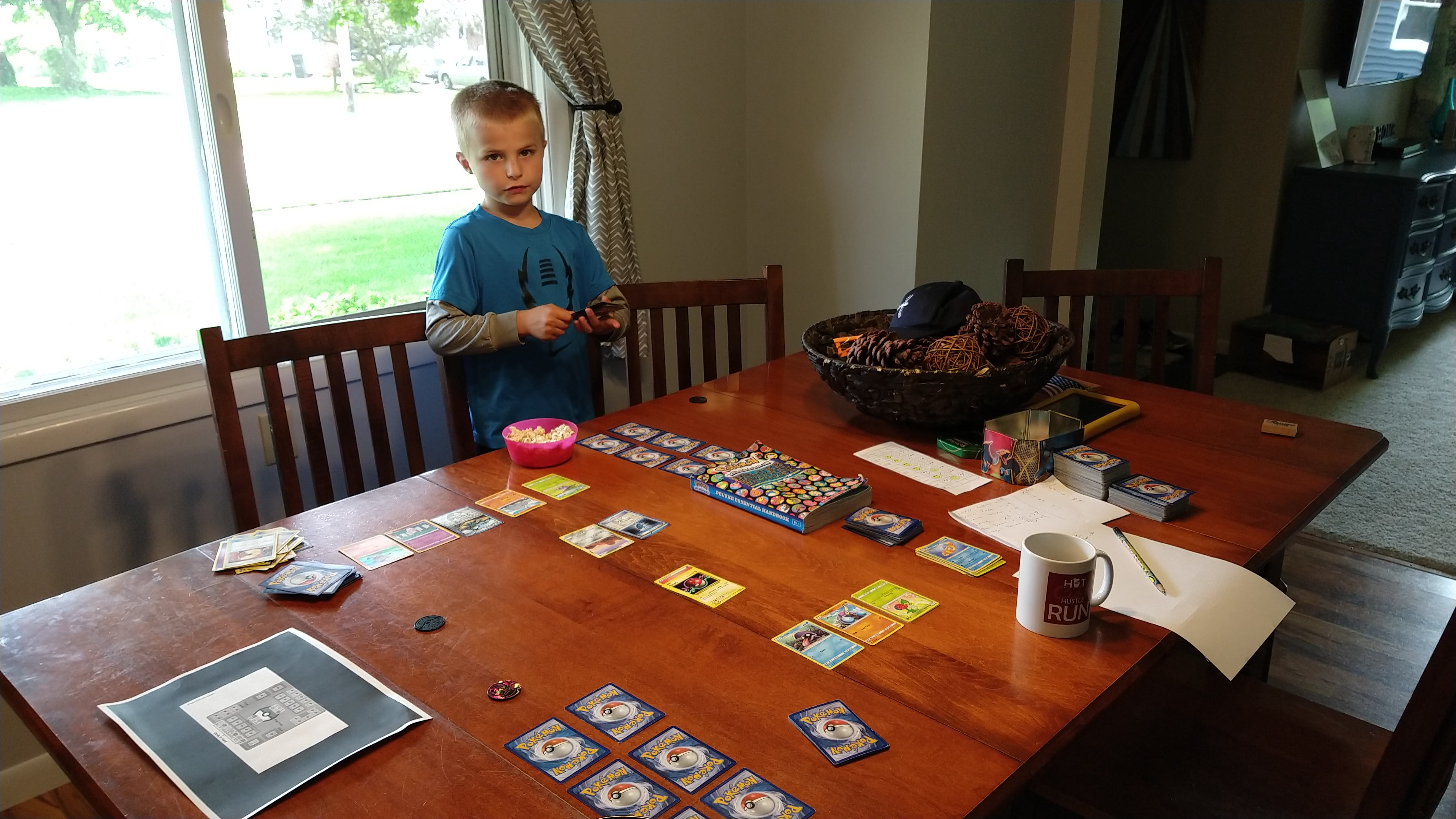 Playing Some Real Pokemon TCG With My Son