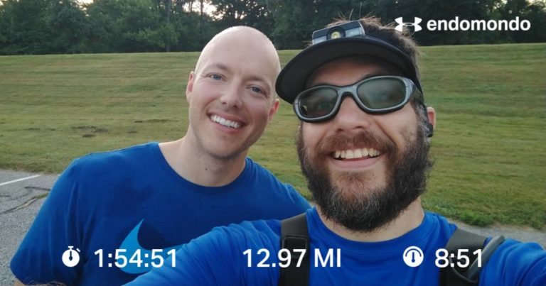 Knocking Out Some Early Morning Miles With A Hope Water Teammate