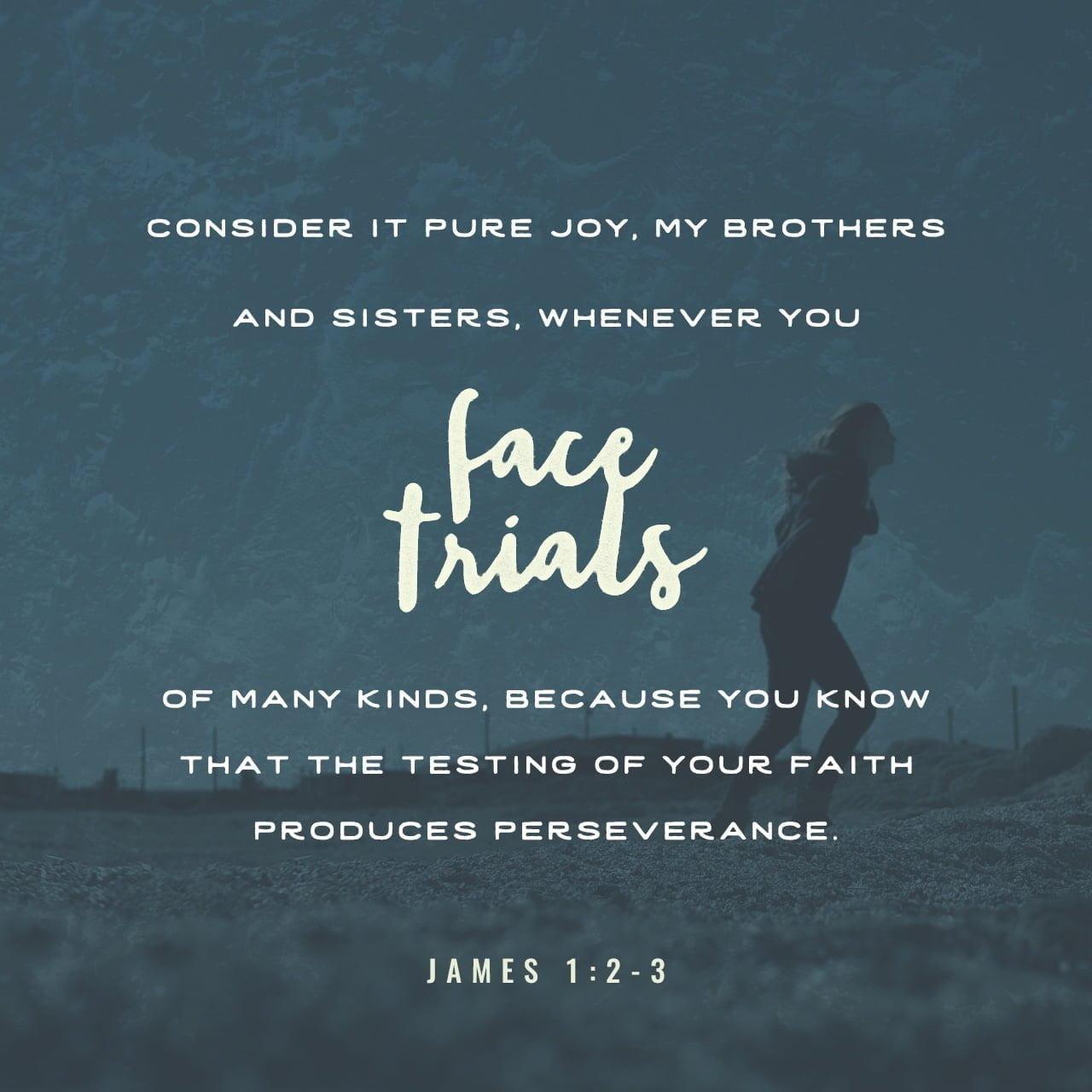 James 1:2-3 NLT