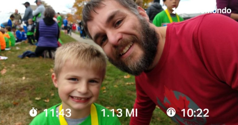 Running With My Son In The Kids Marathon