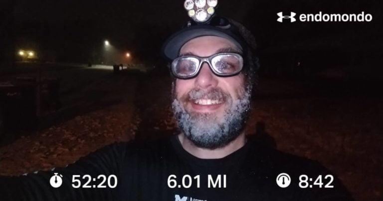 First Snowy Run, First Ice Beard