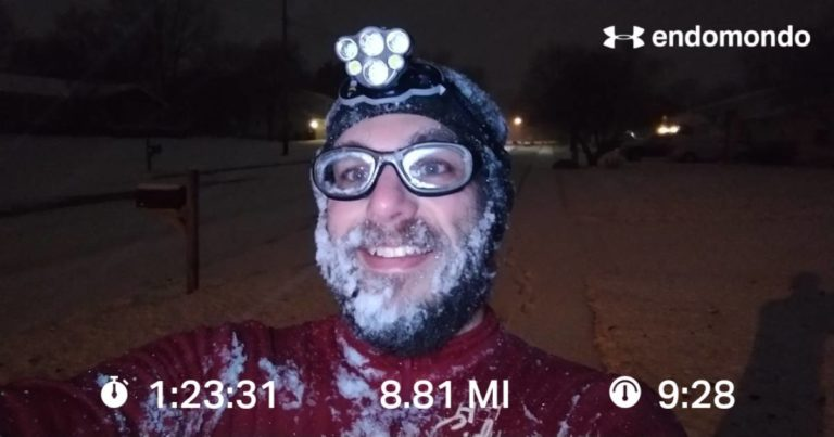 Only In The Midwest, Rainy Run On Monday And A Snowy Run On Tuesday