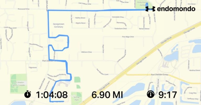 Almost 7 Mile Post-Christmas Run