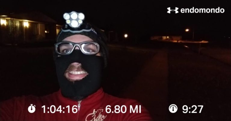 Breaking Out The Facemask For A Chilly Interval Run