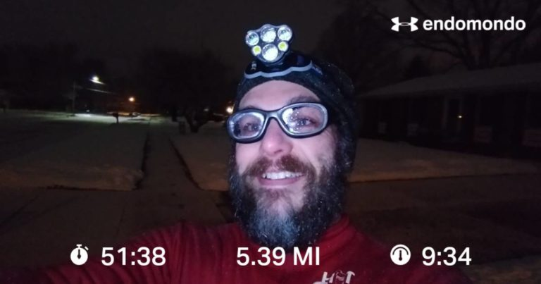 Working On The 25k Plan On A Wintery Morning