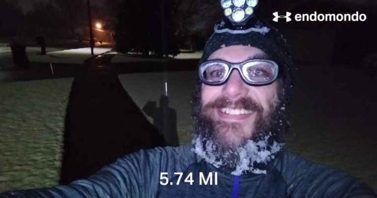 A Surprising Snowfall To Start Off A New Week Of Running