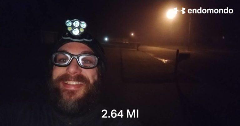 Doing An Intense Training Evaluation Run On A Foggy Thursday Morning