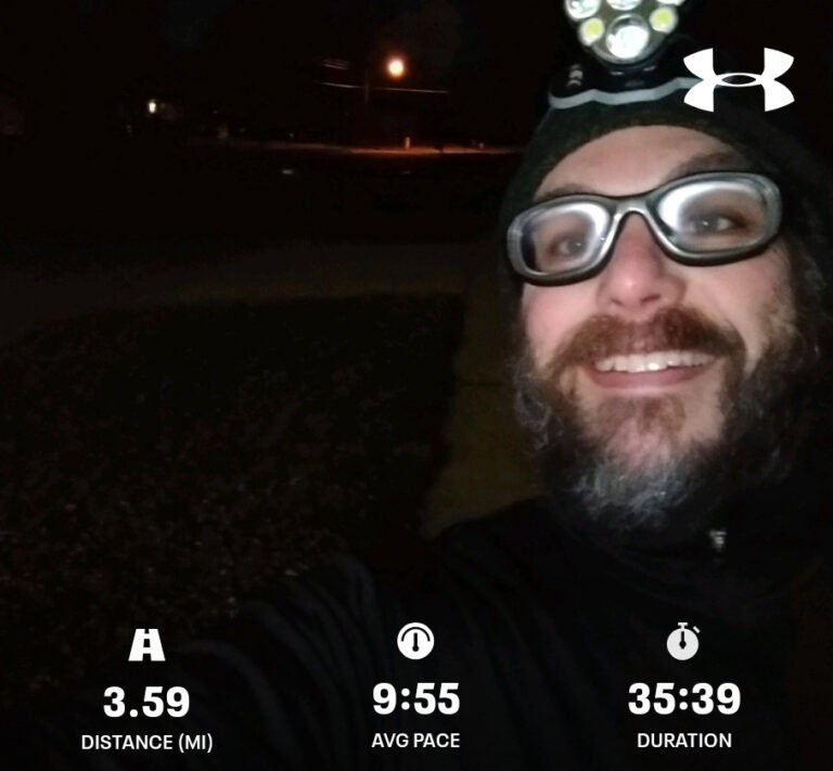 Still Running For Clean Water, Knocking Out Another Interval Run On A Cold December Morning