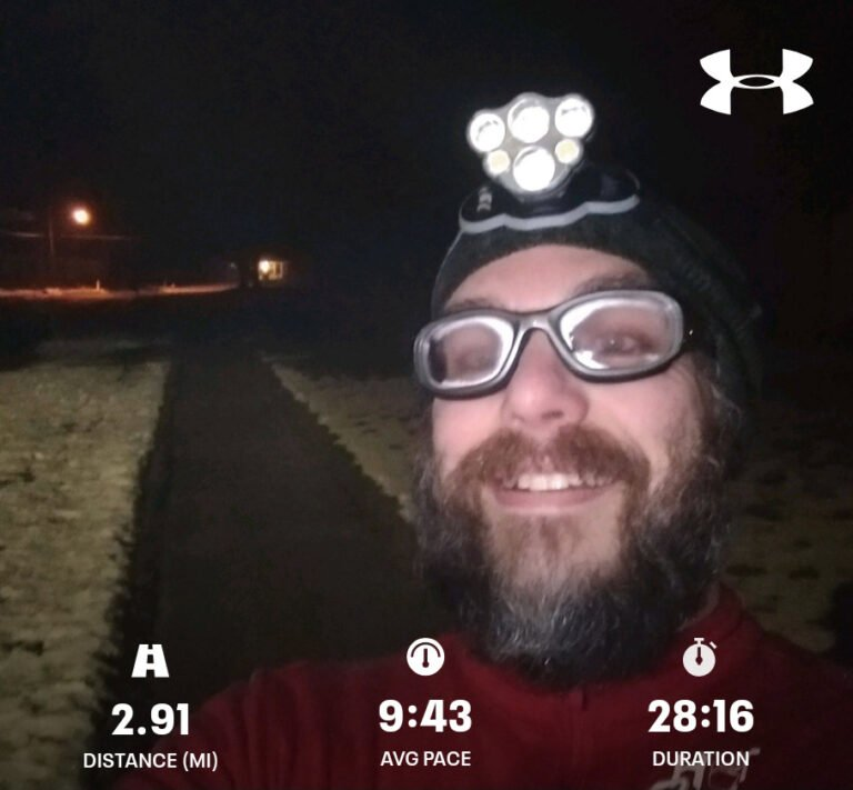 Early Morning Wet Winter Run