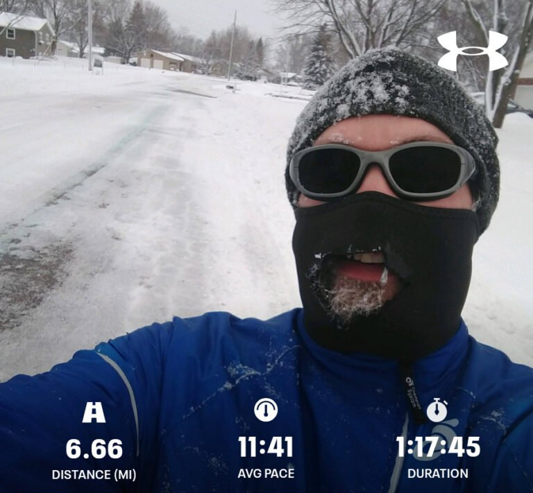 Pulling Out The Face Mask For A Tough Winter Run