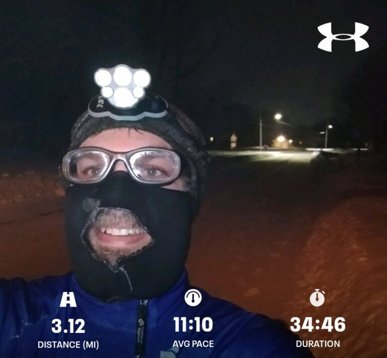 A Slow Cold Monday 5K