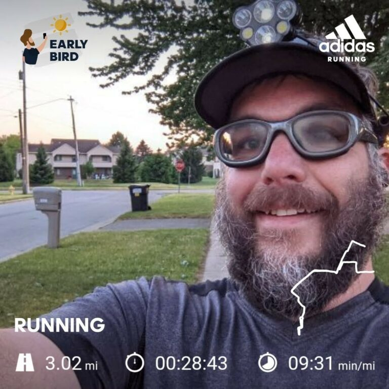 Getting in an Easy Tuesday Run Back Home, After a Hard Monday Campground Run