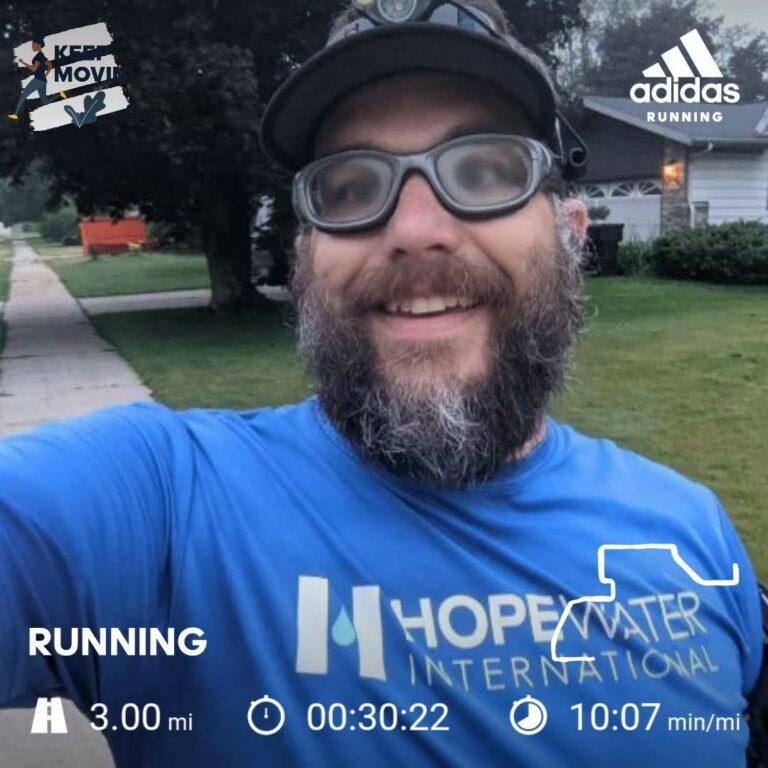 Getting in Another 3 Miles on a Hot Summer Morning