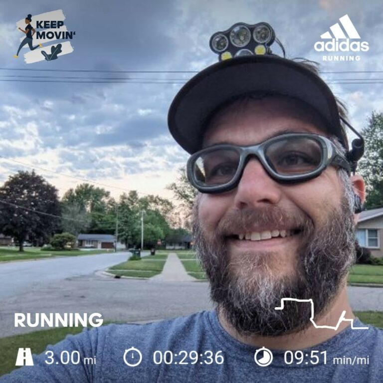 Another Successful Morning Overcoming The Desire To Stay In Bed, Completing 3 More Miles