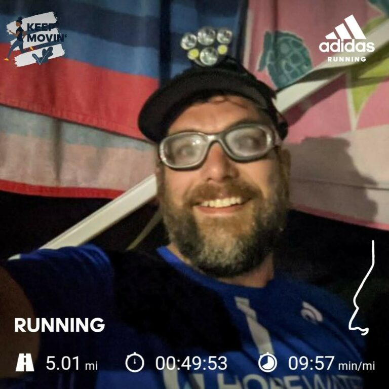 A Late Night 5 Mile Saturday Run at the Campground