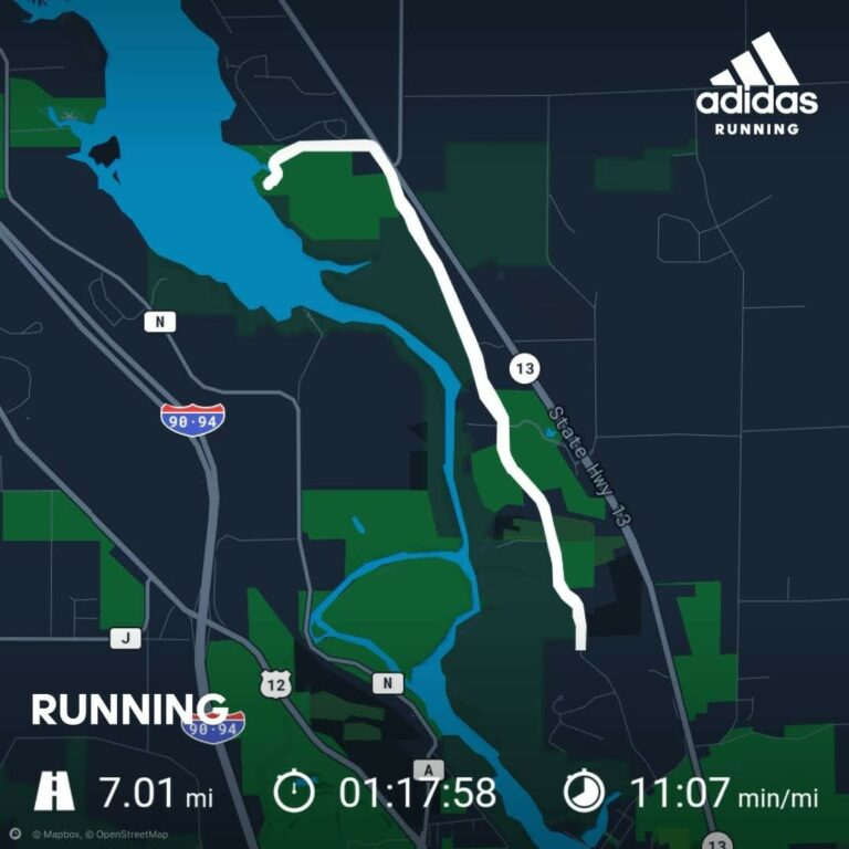 Another Late Night Long Run, 7 Miles in the Wisconsin Dells