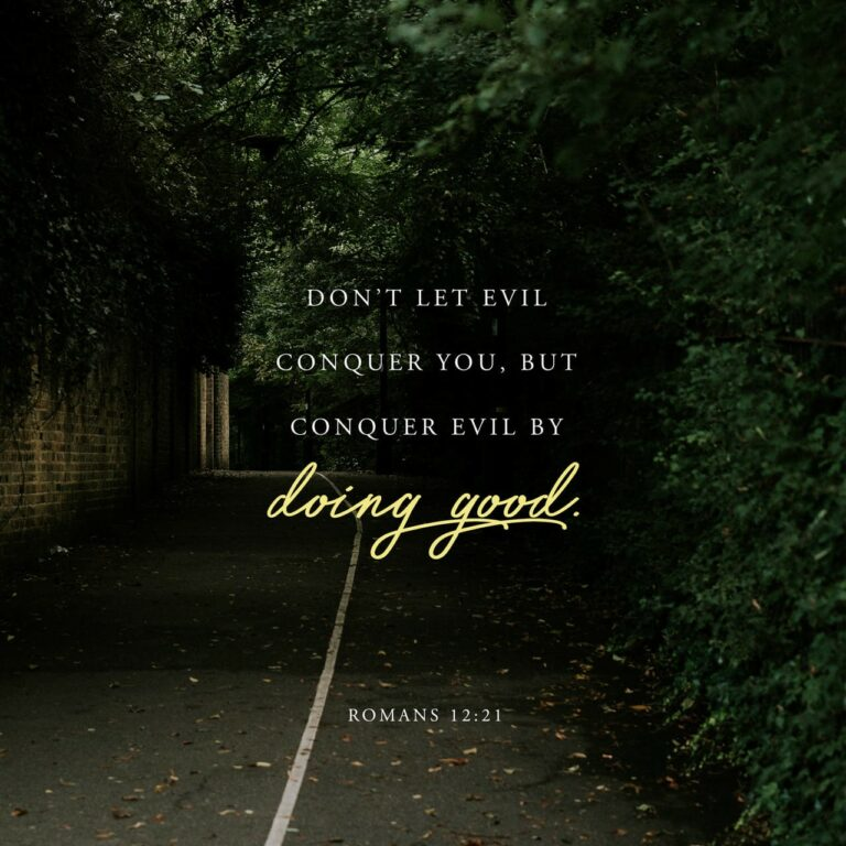 Don't let evil conquer you, but conquer evil by doing good.